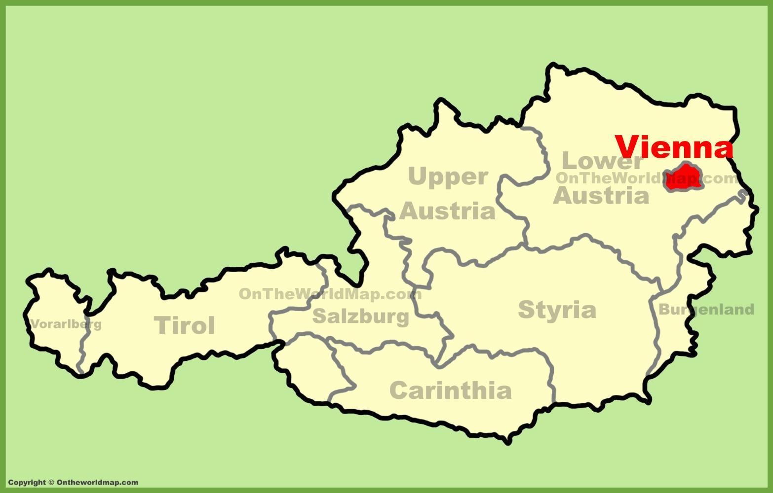 viena de austria mapa Viena, Austria mapa   Wien Austria map (Austria) viena de austria mapa